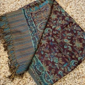 Purple and Turquoise Pashmina